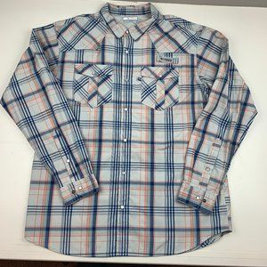 Columbia PFG Long Sleeve Button Down Shirt Mens XL